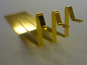 Formed and Gold Plated Contact, by Etch Tech Chemical Milling in the UK