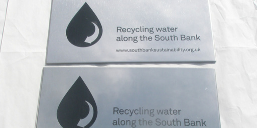 Water treatment plant labels manufactured by the photo chemical machining process.