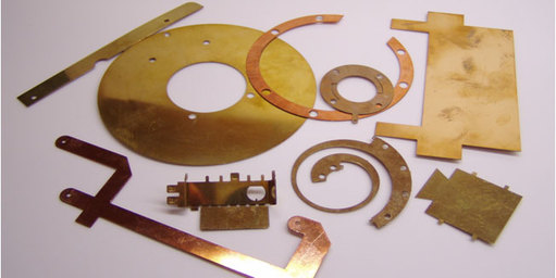 brass copper and aluminium components made by photofabrication.