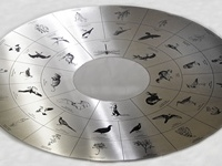 A metal disc that has been surface etched with an extremely high level of detail. Provided to a designer following bespoke artwork for the photo etching process